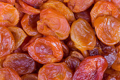Red and orange dried apricots in close-up Royalty Free Stock Image