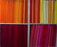 Red and orange fabric Stock Photo