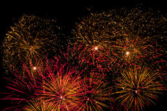 Red and Orange Fireworks Royalty Free Stock Photography