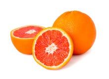Red orange fruit isolated on white Royalty Free Stock Image