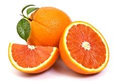 Red orange fruit composition. Red orange fruit on white background Stock Photo