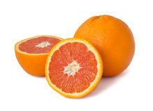 Red orange fruit  on white Royalty Free Stock Photo