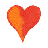 Red and orange heart Royalty Free Stock Image