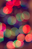 Red and orange holiday bokeh. Royalty Free Stock Photography