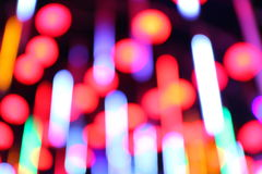 Red and orange holiday bokeh royalty free stock photography
