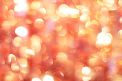 Red and orange holiday bokeh Stock Photo