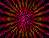 Red orange and ink rays abstract interference pattern Stock Photos