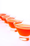 Red orange jelly diagonal vertical Stock Image
