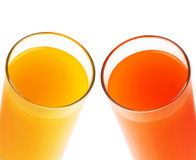 Red Orange Juice With ACE Juice Isolated Stock Photography