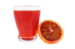 Red orange juice Stock Images