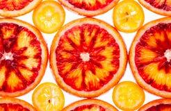 Red orange an kumquat Stock Images