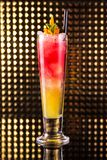 Red and orange layered cocktail royalty free stock image