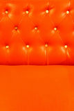 Red orange leather upholstery Royalty Free Stock Photo