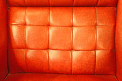 Red orange leather upholstery. Red orange the leather upholstery Royalty Free Stock Image