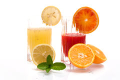 Red Orange And Lemon Juice Stock Photos