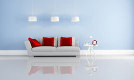 Red and orange living room Stock Photography