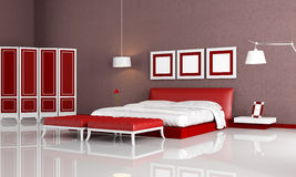 Red and orange living room Royalty Free Stock Photography
