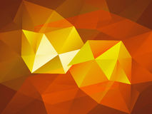 Red and Orange Low Poly trangular trendy hipster background for Royalty Free Stock Photo