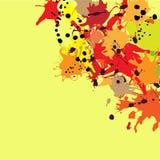 Red orange maroon ink splashes background copy space square. Red orange maroon artistic ink splashes vector background, copy space. Greeting card or invitation royalty free illustration