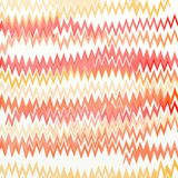 Red and Orange Messed Up Chevrons. An uneven and messy watercolor style chevron pattern Royalty Free Stock Photo