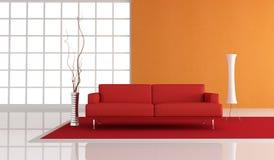 Red and orange minimalist lounge Stock Photo