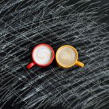 Bright colors coffee pauses Stock Photo