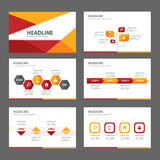 Red and orange multipurpose Brochure flyer leaflet website template flat design Stock Images