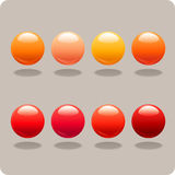 Red & Orange Orbs. Perfect for desktops or websites Royalty Free Stock Photography