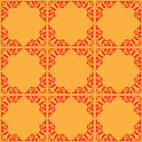 Red and orange vector ornamental seamless pattern Royalty Free Stock Images