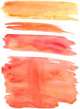 Red orange paint strokes vector Stock Images
