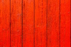 Red orange painted wooden wall plank weathered wood surface texture background. royalty free stock photos