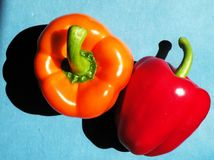 Red and orange peppers Royalty Free Stock Photo