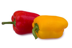Red and orange peppers Stock Photos