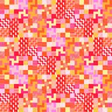 Red orange pink checkered tileable background Stock Photo