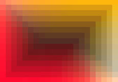Red orange quadratic pattern in color geometric.  Stock Photography