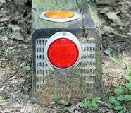 Red and orange reflectors Royalty Free Stock Images
