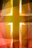 Red and orange religious cross Royalty Free Stock Photo