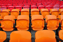 Red and orange seat Royalty Free Stock Image