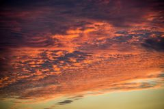 Red orange sky abstract climate sunset Stock Image