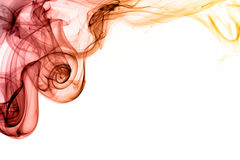 Red and orange smoke swirls Royalty Free Stock Images