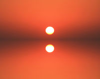 Red and orange sunset Royalty Free Stock Image