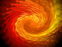 Red orange vortex abstract Royalty Free Stock Photo