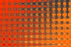 RED AND ORANGE WALLPAPER WITH PATTERN ON. Red, orange and grey intersecting wave pattern on a wallpaper stock illustration