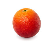 Red orange on white background with clipping path. Royalty Free Stock Photo