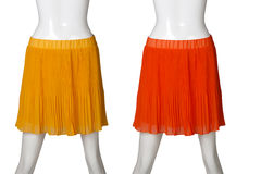 Red and orange women skirt Stock Image
