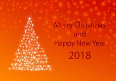 Xmas greeting card for new years 2018 Stock Photography