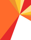 Red, orange and yellow corporate flyer Royalty Free Stock Photo