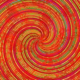 Red orange yellow green swirl spiral pattern texture Stock Images
