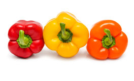 Red orange and yellow peppers Royalty Free Stock Images