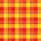 Red orange and yellow plaid tartan pattern vector Royalty Free Stock Photo